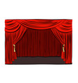 hand drawn theatrical stage vector image