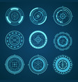 hud interface futuristic graphic elements set vector image