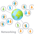 international network vector image