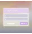 Modern user interface login screen template for vector image