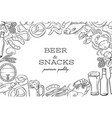 pub food template frame and page design vector image