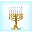 realistic golden menorah vector image