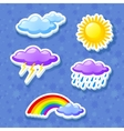 Colorful weather icon set vector image