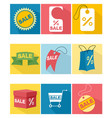 nine icons set vector image