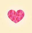 polygonal heart low poly love symbol vector image