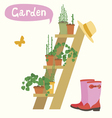 flower gardening vector image