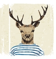 Hand drawn dressed up deer vector image