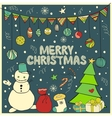 Winter doodle collection vector image