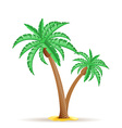 palm tree 25 vector image vector image