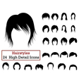 Set of 24 Hairstyles Icons vector image