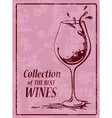 Background with wine glass vector image
