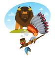 buffalo wild animals cavicorn mammals american vector image