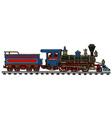 Classic american steam locomotive vector image