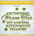 Green Tea Graphic Styles for Design use for decor vector image