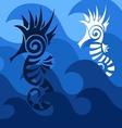 Abstract SeaHorses vector image