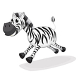 A zebra running vector image