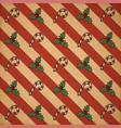 retro christmas pattern vector image