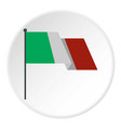 Italian flag icon circle vector image