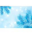 Christmas blue background with christmas tree vector image vector image