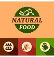 flat natural food emblems vector image