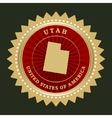 Star label Utah vector image