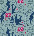 skateboarder pattern vector image vector image
