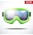 Classic vintage old school snowboarding goggles vector image