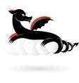 abstract black dragon vector image vector image