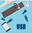 USB technology connection vector image