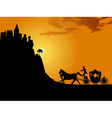 carriage at sunset vector image vector image