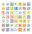 Set of Fitness and Sport doodle icons for web and vector image