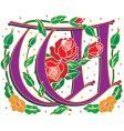 rosette letter W vector image vector image