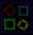 a set of frames from broken lines and scribbles vector image