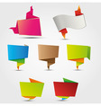 abstract origami labels vector image