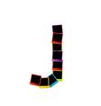 Alphabet J with colorful polaroids vector image