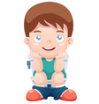 Boy in toilet vector image