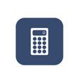 calculator icon flat design style vector image