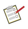 checklist with square cases icon image vector image
