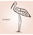 decorative stork vector image