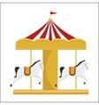 funny carousel horses circus festival vector image