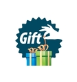 logo box with gifts vector image