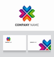 Logo colored and business card template vector image