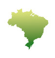 map of brazil landmark geography image vector image