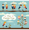 Plant the family tree vector image