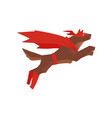superhero dog character jumping super dog dressed vector image