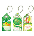 spring shopping tags vector image