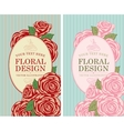 floral designs with roses vector image vector image