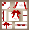 Gift cards collection vector image