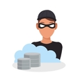 Hacker of security system design vector image