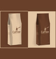 pack of coffee vector image